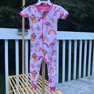 Children's-short sleeves one piece sleepwear-9-12M